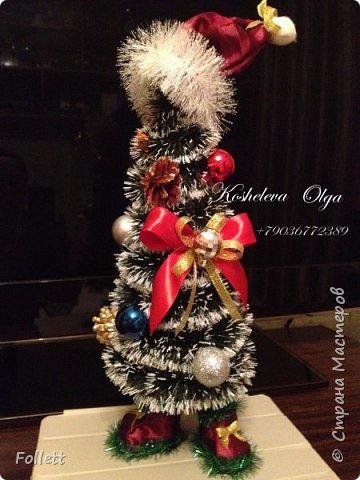 Скоро Новый год! Решила задуматься о подарках заранее. Снеговик в скульптурно-текстильной технике. фото 4