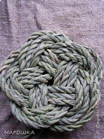 осталось несколько веревок после изготовления травяной посуды - куда их? попробовала завязать в турецкий узел - смотрите.. фото 2