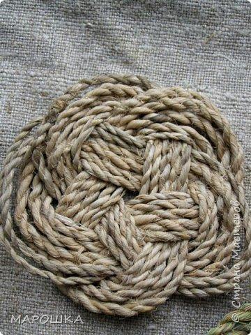 осталось несколько веревок после изготовления травяной посуды - куда их? попробовала завязать в турецкий узел - смотрите.. фото 3