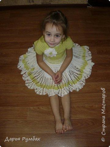 Шапочка, снуд, митенки для дочки. фото 7