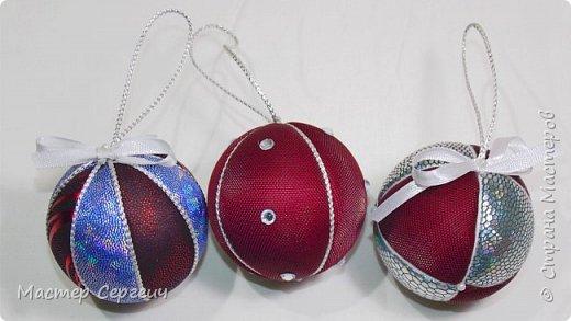 Новогодние шары из пенопласта. Новогодние поделки