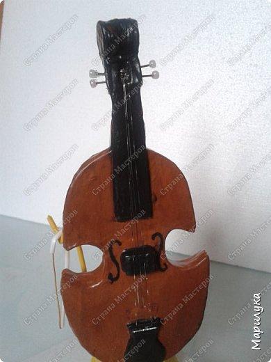 Вот и готова вторая часть композиции музыкальных инструментов. На этот раз это скрипка... фото 1