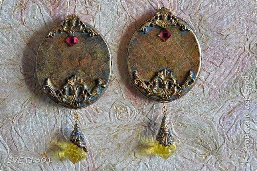 Если на гипсовый медальон вживить (можно просто приклеить) какую ни будь милую картинку с птичками фото 5