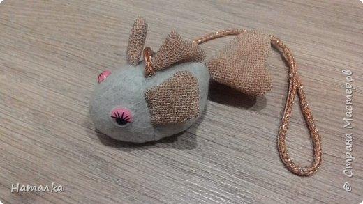 Игрушку для кошки сшила из приятной мягкой ткани. В наполнитель добавила немного корней валерианы.