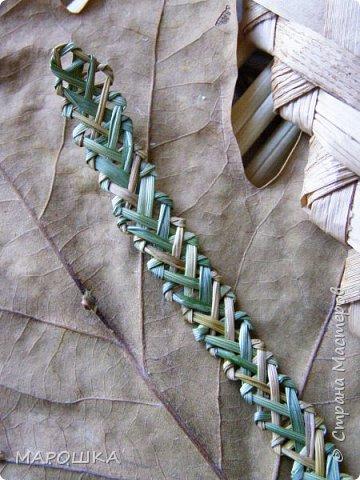 закончилась у меня трава для изготовления веревок, да вот остались тонюсенькие травинки - выбросить? они такие зеленые, такие длинные, баловства ради попробовала заплести зубатку.. смотрите: фото 12