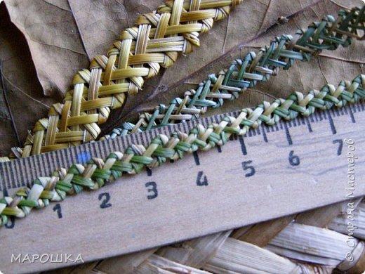 закончилась у меня трава для изготовления веревок, да вот остались тонюсенькие травинки - выбросить? они такие зеленые, такие длинные, баловства ради попробовала заплести зубатку.. смотрите: фото 6