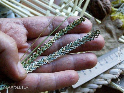 закончилась у меня трава для изготовления веревок, да вот остались тонюсенькие травинки - выбросить? они такие зеленые, такие длинные, баловства ради попробовала заплести зубатку.. смотрите: фото 10