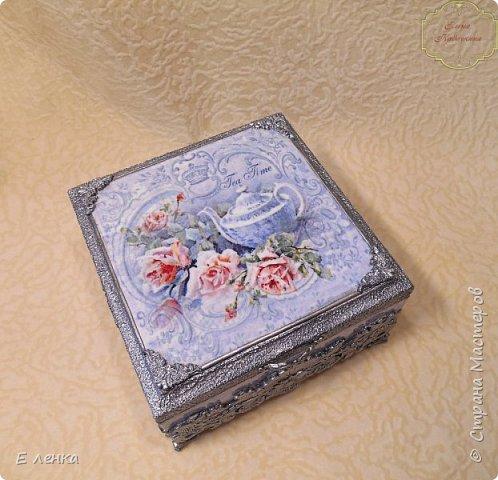 """Шкатулка """"Розы в серебре"""" фото 3"""