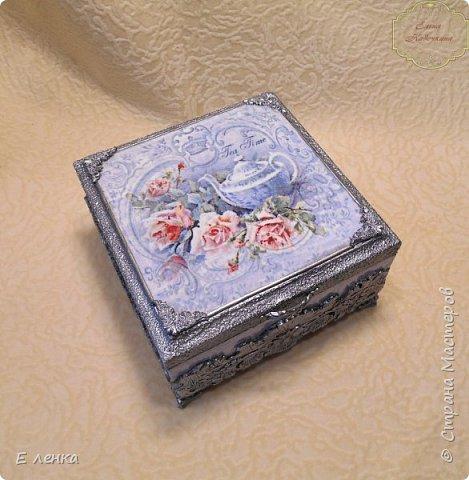 """Шкатулка """"Розы в серебре"""" фото 5"""