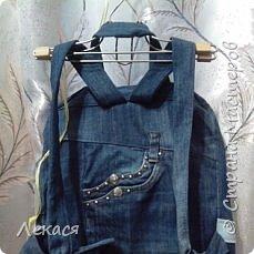 рюкзак из джинс фото 2