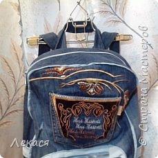 рюкзак из джинс фото 1