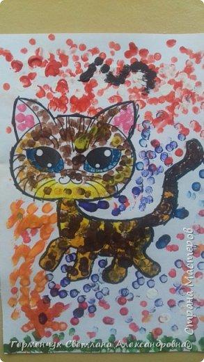 """Работы ребят 3 """"А"""" класса """"Эти забавные животные """"  выполнены  нетрадиционным способом рисования- ватными палочками. Раскраски  взяли из   Интернета фото 24"""