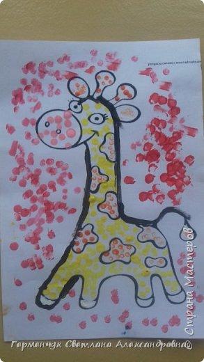 """Работы ребят 3 """"А"""" класса """"Эти забавные животные """"  выполнены  нетрадиционным способом рисования- ватными палочками. Раскраски  взяли из   Интернета фото 22"""