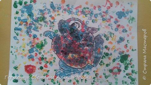 """Работы ребят 3 """"А"""" класса """"Эти забавные животные """"  выполнены  нетрадиционным способом рисования- ватными палочками. Раскраски  взяли из   Интернета фото 13"""