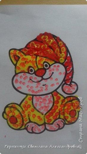 """Работы ребят 3 """"А"""" класса """"Эти забавные животные """"  выполнены  нетрадиционным способом рисования- ватными палочками. Раскраски  взяли из   Интернета фото 10"""