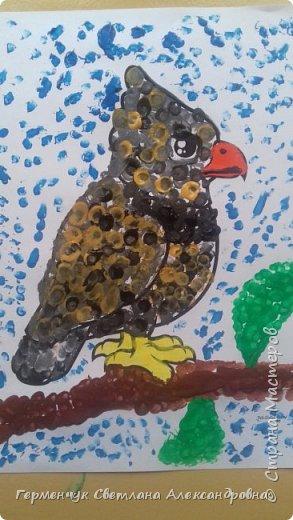 """Работы ребят 3 """"А"""" класса """"Эти забавные животные """"  выполнены  нетрадиционным способом рисования- ватными палочками. Раскраски  взяли из   Интернета фото 1"""