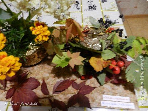 """Доброго времени суток, дорогие Мастера и Мастерицы. Сегодня, с некоторым опозданием, выставляем на Ваш суд нашу с Анечкой поделку , которую мы назвали """" Осеннее чаепитие"""", которая была выполнена на школьный конкурс осенних поделок из природного материала. фото 6"""