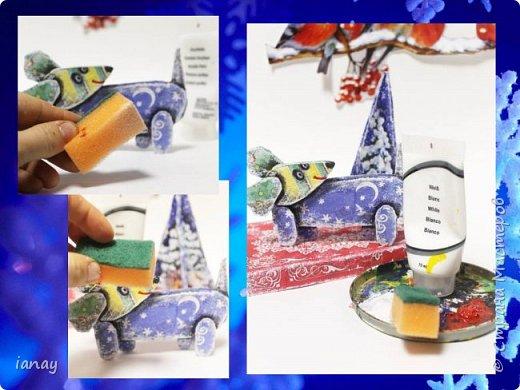 Мастер-класс идея простого Новогоднего декора. фото 9