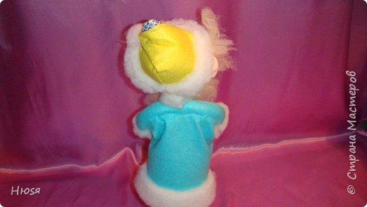 """Здравствуйте, Уважаемые мастерицы и мастера! В прошлом году я уже делала подобных. Кукла - """"Дед Мороз"""". Выполнены в технике: """"Скульптурный текстиль"""". Материалы: капрон, синтепон, фетр, овечья шерсть. Размер: 30 см. МК можно посмотреть у Семенюк Елены http://stranamasterov.ru/node/665734?c=favorite. Спасибо ей большое. фото 9"""