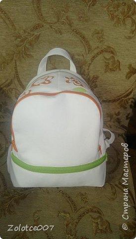 Сшила себе еще один рюкзак, типа на лето) уж больно светлый для осени фото 3