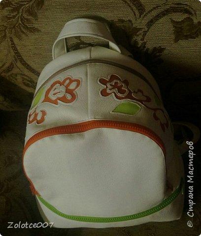 Сшила себе еще один рюкзак, типа на лето) уж больно светлый для осени фото 2