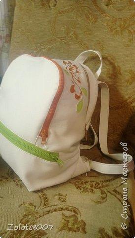 Сшила себе еще один рюкзак, типа на лето) уж больно светлый для осени фото 1
