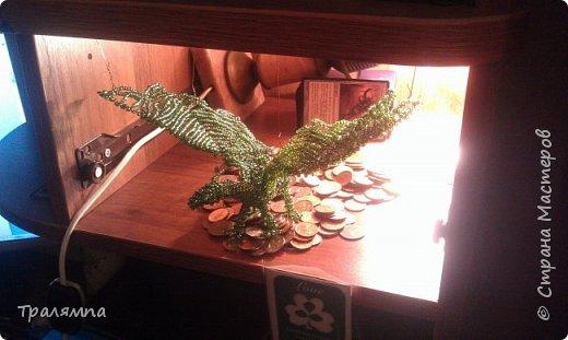 Мой первый дракон из бисера. Создан параллельным плетением в далёком 2014 году. фото 3