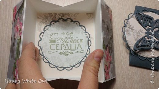 Всем привет!  Уже давно хотелось сделать что-то необычное и, к счастью, я натолкнулась на этот пост: http://stampwitch.blog/box-cards/ Там рассказывается о том как сделать открытку-коробочку. Есть схема на которой указаны размеры в дюймах и сантиметрах. Доски для биговки у меня нет и я использовала подсказку в сантиметрах, НО у меня не получилось сделать нормальную коробочку, т.к. посередине почему-то получился сильный зазор примерно в 1 см.  Подумав, я решила переделать коробочку, но размеры взяла свои. Схему смотрите в самом конце. О том как склеить открытку и в какую сторону сгибать смотрите у Dawn: https://www.youtube.com/watch?v=5gojsHu25UU&t=99s фото 4