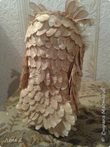 Вот такая сова или филин) Также использован природный материал, глазки марблс. фото 3