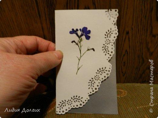 Доброго времени суток. Представляем Вам 3 открытки, сделанные ко дню учителя. Использовали белую и цветную бумагу и различные засушенные листочки и цветочки. Заодно опробовали купленный пробойник. Это открытка № 1 фото 9