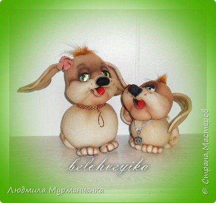 Пёсик Жорик и его друг -щенок с эрокезом.Выполнены по мк Е Лаврентьевой. PS сделала в компанию ещё девочку. фото 12