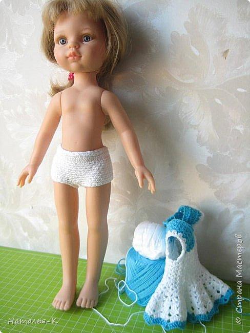 Здравствуйте дорогие мастерицы! Сегодня я пришла показать обновки для куклы паола Карла.  Вязала по МК Оксаны Лифенко. Ещё не постирала, поэтому петельки на фотографии рыхлые...  вяжу всю свою сознательную жизнь, но такие вещички для кукол..., учусь у Оксаны с 2015 года. Прекрасная Мастерица, я рада что повстречала её на моём творческом пути. фото 10