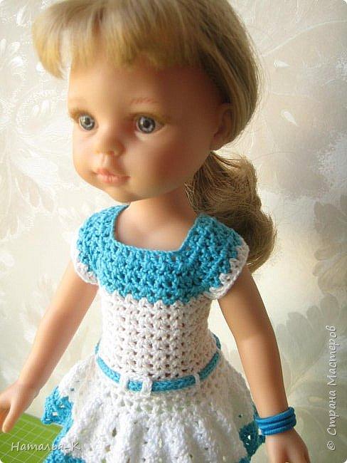 Здравствуйте дорогие мастерицы! Сегодня я пришла показать обновки для куклы паола Карла.  Вязала по МК Оксаны Лифенко. Ещё не постирала, поэтому петельки на фотографии рыхлые...  вяжу всю свою сознательную жизнь, но такие вещички для кукол..., учусь у Оксаны с 2015 года. Прекрасная Мастерица, я рада что повстречала её на моём творческом пути. фото 8