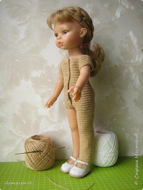 Здравствуйте дорогие мастерицы! Сегодня я пришла показать обновки для куклы паола Карла.  Вязала по МК Оксаны Лифенко. Ещё не постирала, поэтому петельки на фотографии рыхлые...  вяжу всю свою сознательную жизнь, но такие вещички для кукол..., учусь у Оксаны с 2015 года. Прекрасная Мастерица, я рада что повстречала её на моём творческом пути. фото 4
