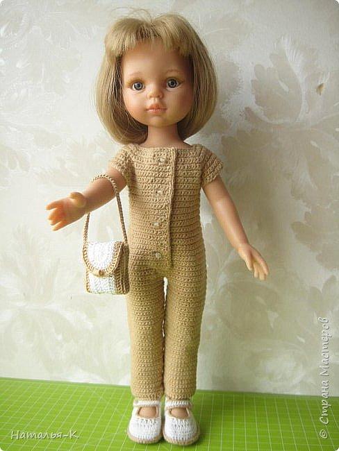Здравствуйте дорогие мастерицы! Сегодня я пришла показать обновки для куклы паола Карла.  Вязала по МК Оксаны Лифенко. Ещё не постирала, поэтому петельки на фотографии рыхлые...  вяжу всю свою сознательную жизнь, но такие вещички для кукол..., учусь у Оксаны с 2015 года. Прекрасная Мастерица, я рада что повстречала её на моём творческом пути. фото 1