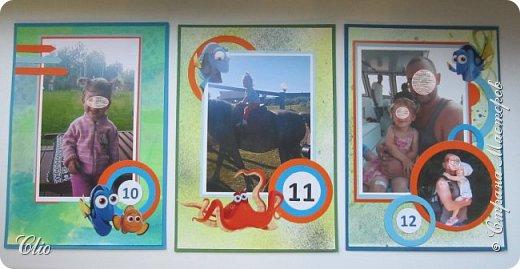 Давненько  я не заходила в СМ. А тут соскучилась, решила заглянуть, набраться вдохновения на Новый год)да заодно поделиться  своими работами. Не так давно был День рождения племянницы  и как повелось оформляла ей в стиле темы Дня рождения фотографии по месяцам.Очень ей эта рыбка Дори нравится).А поскольку День рождения уже справляли более широко, сделала и приглашения.  фото 8