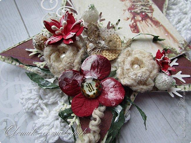 Всем - здравствуйте! Я вам рада! У меня первая в этом году новогодне-рождественская открытка. Открытка серьезная - со Святителем Николаем или Николаем-угодником, как его любят величать на Руси. Пусть принесет святой старец мир в наши дома, тепло - в наши сердца, добро - в наши души! фото 2