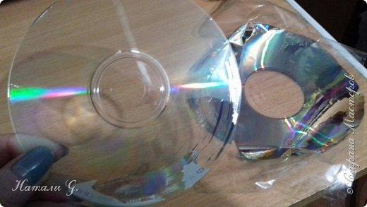 СНЕЖИНКИ на  старых дисках (или вторая жизнь СD-дисков) фото 8