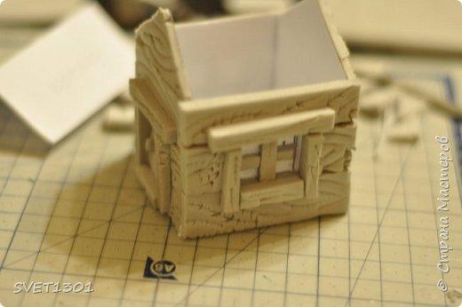 Вот такой зимний домик для интерьерной композиции я предлагаю вам сделать. фото 11