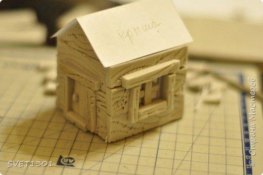 Вот такой зимний домик для интерьерной композиции я предлагаю вам сделать. фото 12