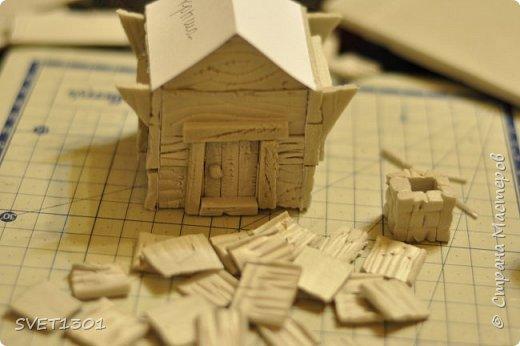 Вот такой зимний домик для интерьерной композиции я предлагаю вам сделать. фото 13