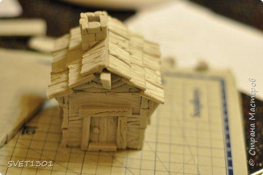 Вот такой зимний домик для интерьерной композиции я предлагаю вам сделать. фото 15