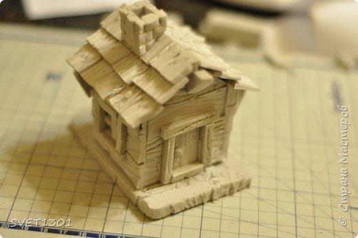 Вот такой зимний домик для интерьерной композиции я предлагаю вам сделать. фото 16