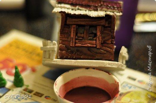 Вот такой зимний домик для интерьерной композиции я предлагаю вам сделать. фото 19