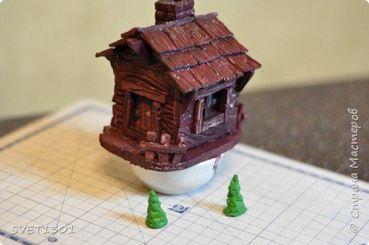 Вот такой зимний домик для интерьерной композиции я предлагаю вам сделать. фото 20
