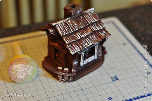 Вот такой зимний домик для интерьерной композиции я предлагаю вам сделать. фото 22