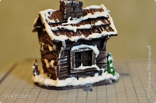Вот такой зимний домик для интерьерной композиции я предлагаю вам сделать. фото 24