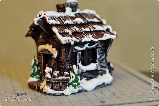 Вот такой зимний домик для интерьерной композиции я предлагаю вам сделать. фото 1