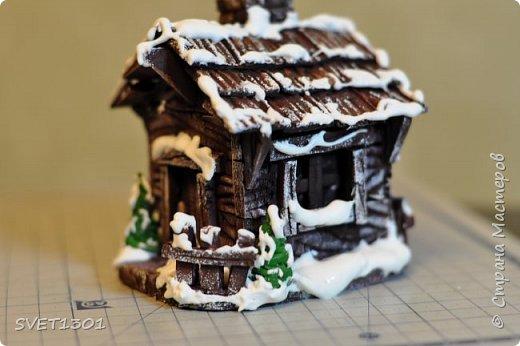 Вот такой зимний домик для интерьерной композиции я предлагаю вам сделать. фото 25