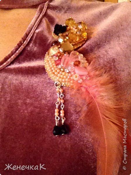 Фламинго. Брошь. фото 9